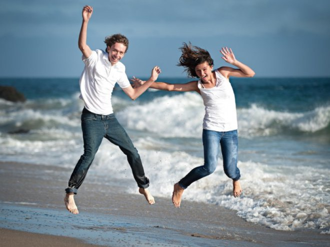 photo of girls who dream of a guy jumping № 103616